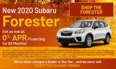 New 2020 Subaru Forester - Sept