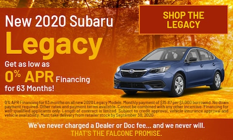New 2020 Subaru Legacy - Sept
