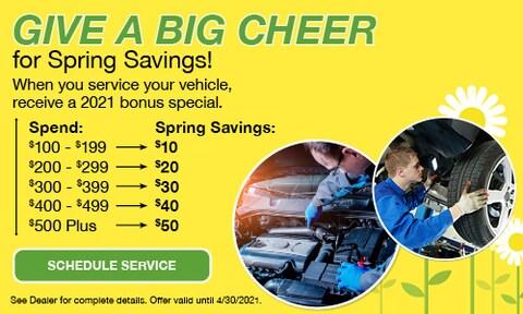 Spring Service Savings - April