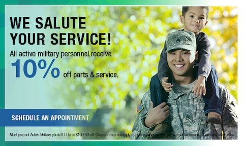 10% off for Active Military