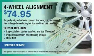 4 Wheel Alignment $74.95