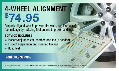 4 Wheel Alignment $74.95