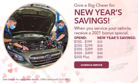 New Year's Service Savings - Feb