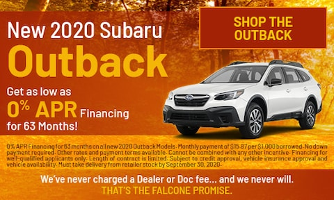 New 2020 Subaru Outback - Sept