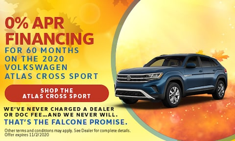 0% APR Financing for 60 Months on the 2020 VW Atlas Cross Sport - Sept