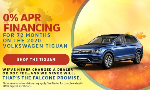 0% APR Financing for 72 Months on the 2020 Volkswagen Tiguan - Sept