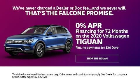 0% APR Financing for 72 Months on the 2020 Volkswagen Tiguan - June