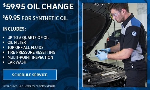 $59.99 Oil Change  ($69.95 for Synthetic Oil)