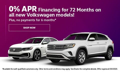 0% APR for 72 Months on all new VW - March