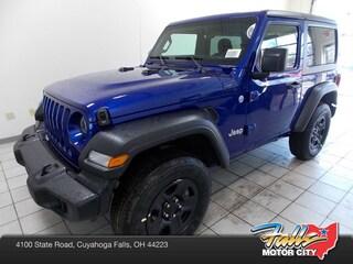 New 2019 Jeep Wrangler SPORT 4X4 Sport Utility 1C4GJXAG7KW605391 for Sale in Cuyahoga Falls, OH