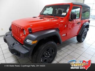 New 2019 Jeep Wrangler SPORT 4X4 Sport Utility 1C4GJXAG7KW638844 for Sale in Cuyahoga Falls, OH
