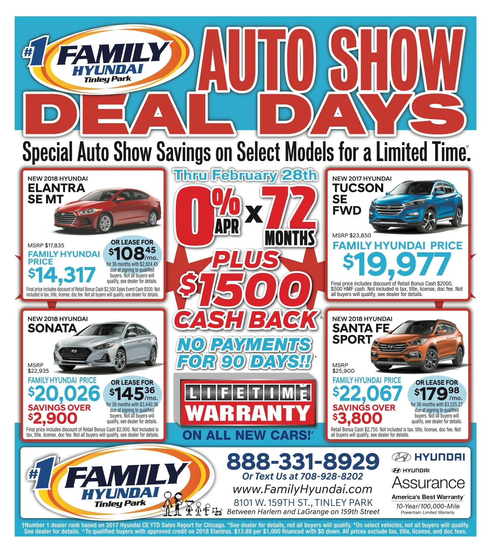 Huge sale at Family Hyundai in Tinley Park! New cars and used cars ...