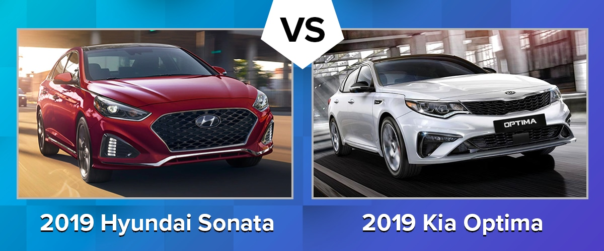 Compare the 2019 Hyundai Sonata vs 2019 Kia Optima Chicago IL