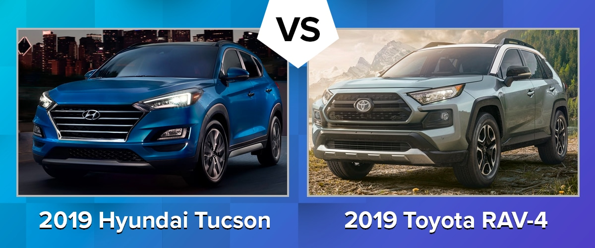 Compare the 2019 Hyundai Tucson vs 2019 Toyota RAV-4 Chicago IL