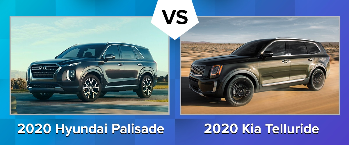 Compare The 2020 Hyundai Palisade And 2020 Kia Telluride Chicago Il