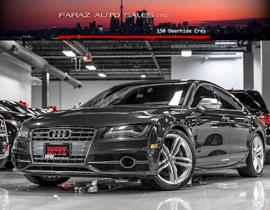 Featured Used 2015 Audi S7 V8T|NAVI|360|B.SPOT|BOSE|CARBON FIBER|LOADED Sedan in Toronto