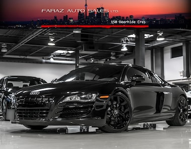 Featured Used 2012 Audi R8 **EXTENDED AUDI WARRANTY V10 6 SPEED CARBON SIGMA  Coupe in Toronto