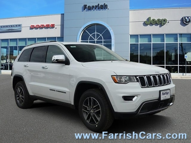New 2018 Jeep Grand Cherokee LIMITED 4X4 bright white clearcoat exterior black interior Stock 32