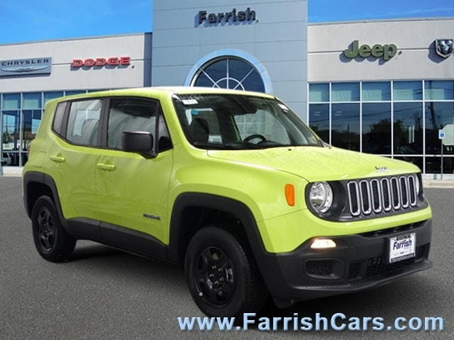 New 2018 Jeep Renegade SPORT 4X4 hypergreen clearcoat exterior black interior 0 miles Stock 332