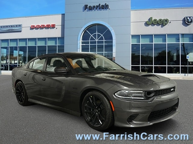 New 2019 Dodge Charger SCAT PACK RWD granite exterior black interior 0 miles Stock D9337 VIN