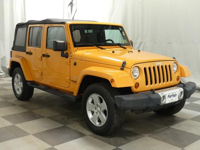 Used 2012 Jeep Wrangler Unlimited Sahara blackdark saddle interior interior 121391 miles Stock