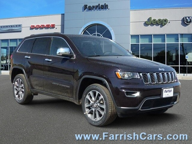 New 2018 Jeep Grand Cherokee LIMITED 4X4 sangria exterior black interior Stock 32493 VIN 1C4RJ