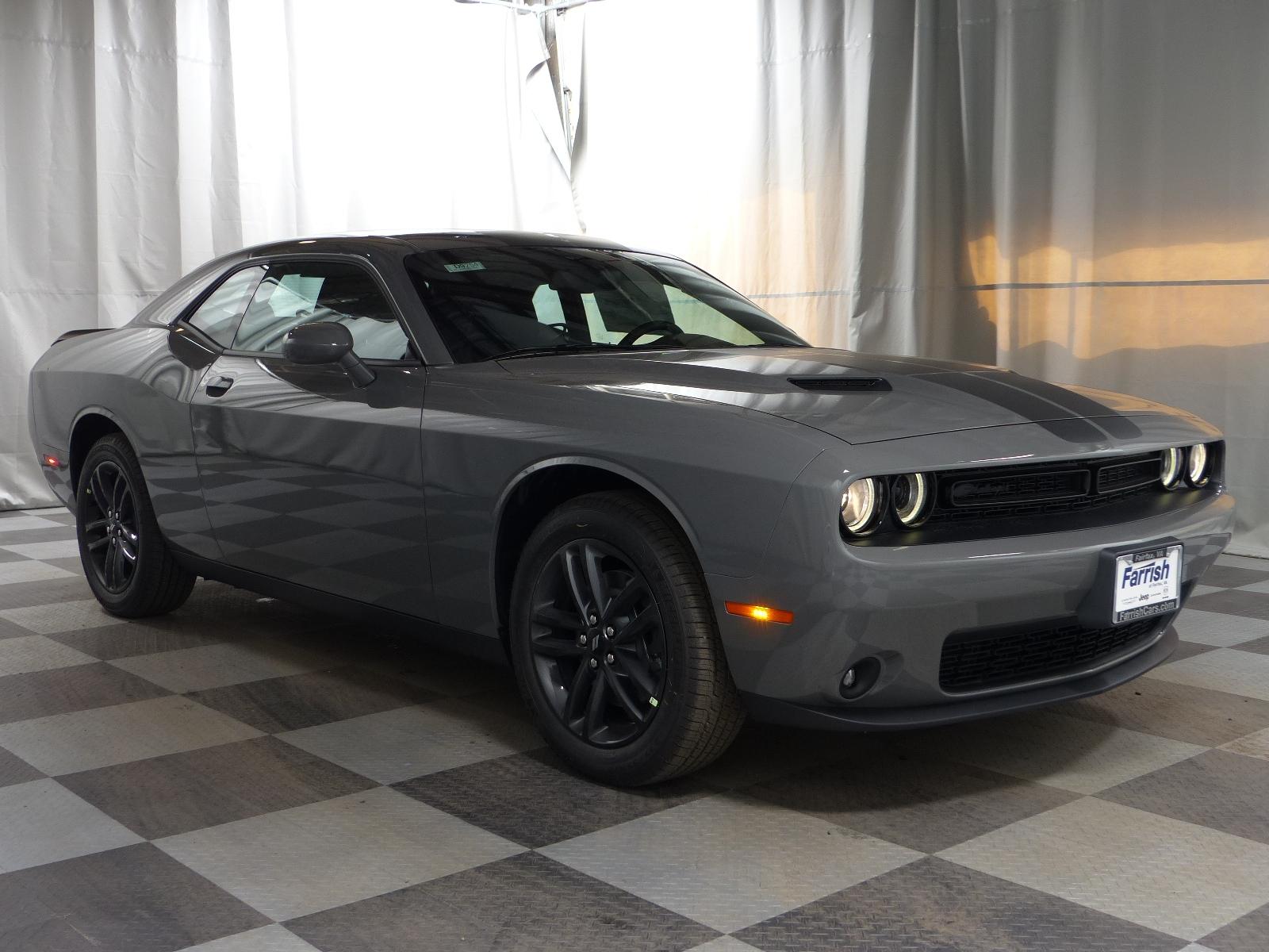 New 2019 Dodge Challenger SXT AWD gray clearcoat exterior black interior Stock D9254 VIN 2C3CD