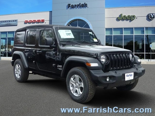 New 2018 Jeep Wrangler UNLIMITED SPORT S 4X4 black clearcoat exterior black in