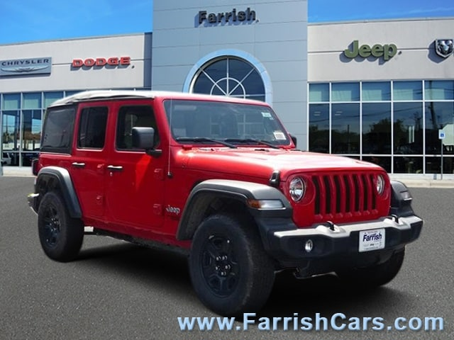 New 2018 Jeep Wrangler UNLIMITED SPORT 4X4 firecracker red exterior tan interior 0 miles Stock