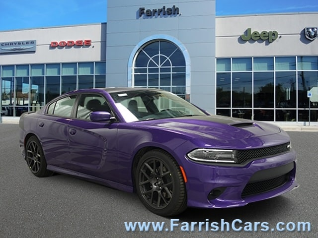 New 2019 Dodge Charger RT RWD plum exterior black interior 0 miles Stock D9316 VIN 2C3CDXCT6