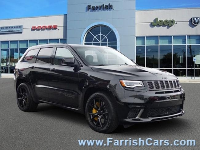 New 2018 Jeep Grand Cherokee TRACKHAWK 4X4 black interior 0 miles Stock 32176 VIN 1C4RJFN95JC2