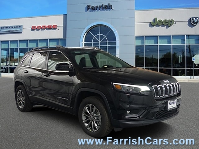 New 2019 Jeep Cherokee LATITUDE PLUS 4X4 diamond black crystal pearlcoat exterior black interior