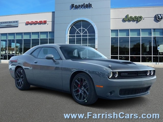 New 2018 Dodge Challenger TA PLUS gray clearcoat exterior black interior Stock D9086 VIN 2C3C