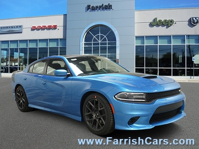 New 2019 Dodge Charger RT RWD blue pearl exterior black interior 0 miles Stock D9321 VIN 2C3