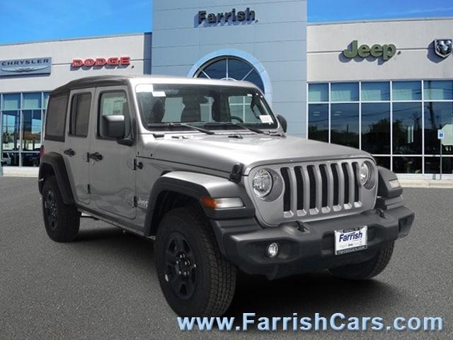 New 2018 Jeep Wrangler UNLIMITED SPORT 4X4 billet silver metallic exterior black interior Stock
