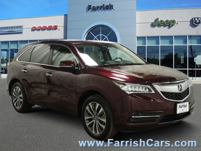 Used 2016 Acura MDX wTech parchment interior 51643 miles Stock S19069A VIN 5FRYD4H48GB044294