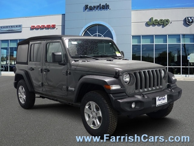 New 2018 Jeep Wrangler UNLIMITED SPORT S 4X4 gray clearcoat exterior black interior 0 miles Stoc