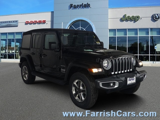 New 2018 Jeep Wrangler UNLIMITED SAHARA 4X4 black clearcoat exterior black interior Stock 33083