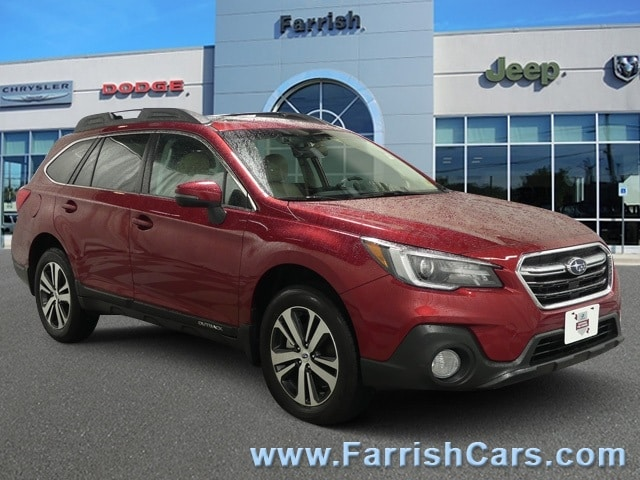Used 2018 Subaru Outback Limited crimson red pearl exterior warm ivory interior 2934 miles Stoc
