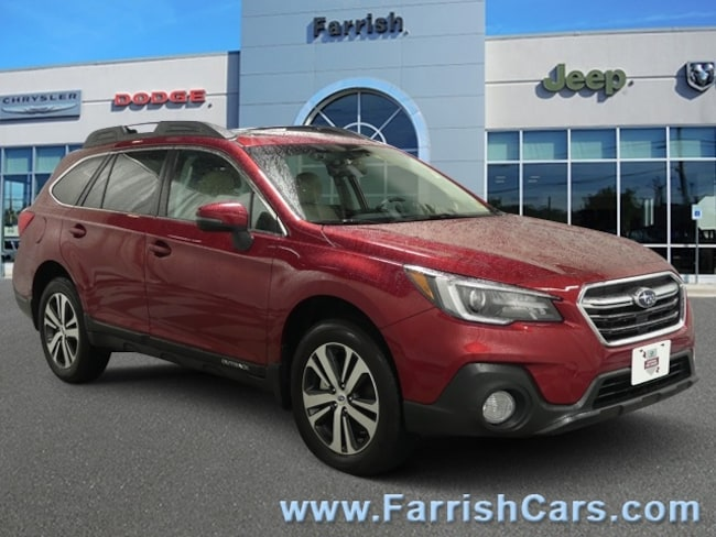Used 2018 Subaru Outback Limited warm ivory interior 4917 miles Stock S19065A VIN 4S4BSENC4J3