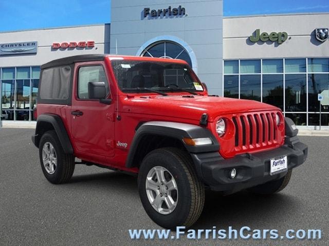 New 2018 Jeep Wrangler SPORT S 4X4 firecracker red exterior black interior 0 miles Stock 33318