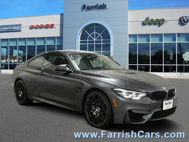 Used 2018 BMW M4 2018 black interior 22330 miles Stock S19206A VIN WBS4Y9C57JAC86037