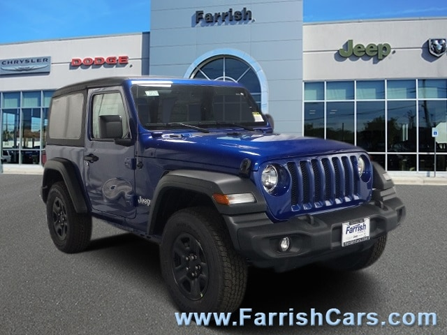 New 2018 Jeep Wrangler SPORT 4X4 ocean blue metallic exterior black interior 0 miles Stock 3292