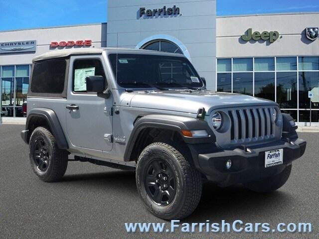 New 2018 Jeep Wrangler SPORT 4X4 billet silver metallic exterior black interior Stock 32786 VIN