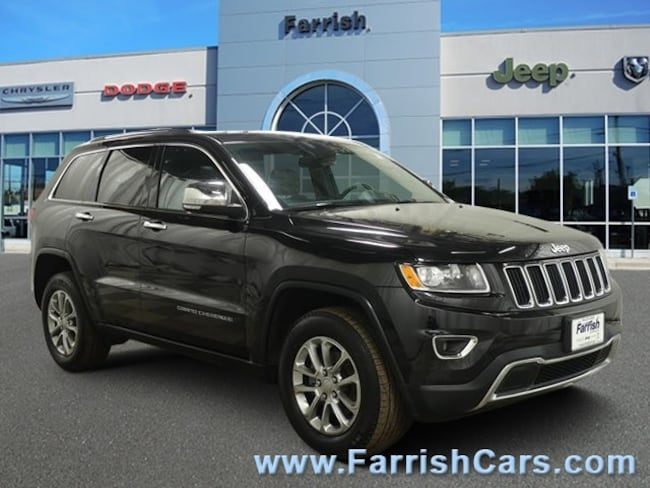 Certified 2015 Jeep Grand Cherokee Limited black interior 30695 miles Stock PC11708 VIN 1C4RJ