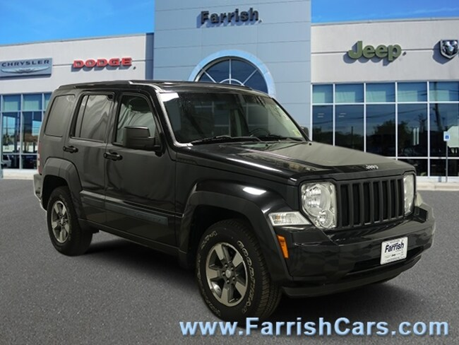 Used 2008 Jeep Liberty Sport pastel slate gray interior 109007 miles Stock 33008A VIN 1J8GN28