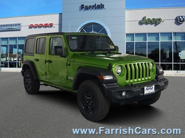 New 2018 Jeep Wrangler UNLIMITED SPORT 4X4 mojito exterior black interior Stock 33046 VIN 1C4