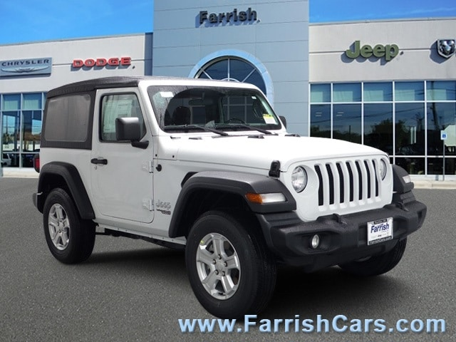 New 2018 Jeep Wrangler SPORT S 4X4 bright white clearcoat exterior black interior 0 miles Stock