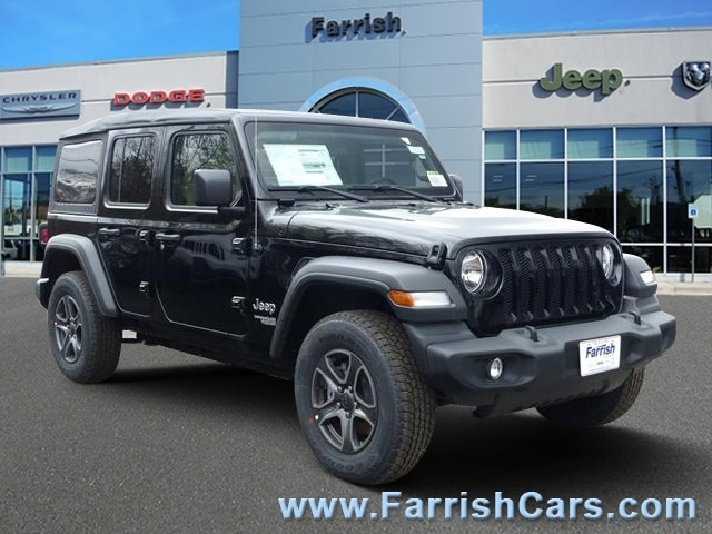 New 2018 Jeep Wrangler UNLIMITED SPORT S 4X4 black clearcoat exterior tan interior Stock 32340