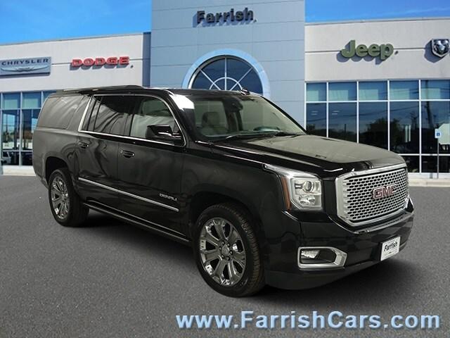Used 2016 GMC Yukon XL Denali onyx black exterior cocoashale interior 58572 miles Stock 33215